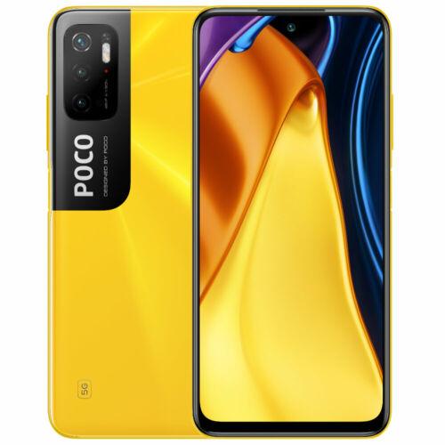 EU ECO Raktár - POCO M3 Pro 5G NFC Dimensity 700 6GB RAM 128GB ROM 6.5 inch 90Hz FHD+ DotDisplay 5000mAh 48MP Tripla Kamera Okostelefon - Sárga