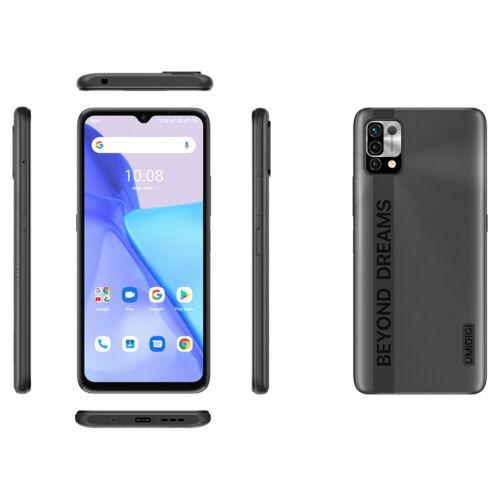 EU ECO Raktár - UMIDIGI Power 5 6.53 inch HD+ Android 11 6150mAh 16MP AI 4GB RAM 128GB ROM Helio G25 4G Okostelefon - Szürke
