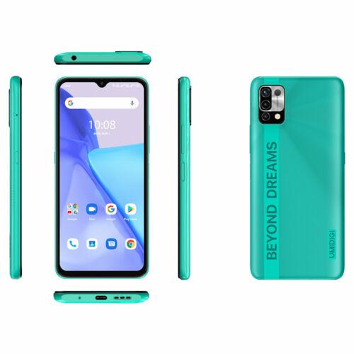EU ECO Raktár - UMIDIGI Power 5 6.53 inch HD+ Android 11 6150mAh 16MP AI 4GB RAM 128GB ROM Helio G25 4G Okostelefon - Kék