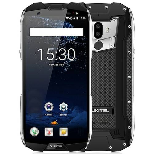 EU ECO Raktár - OUKITELWP5000 6GB RAM 64GB ROM IP68 Vízálló Helio P25 Octa Core 2.5GHz Android 7.1 Dual Rear Camera 4G Okostelefon - Fekete