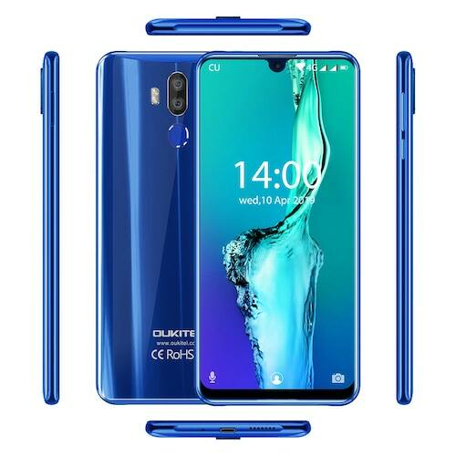 EU ECO Raktár - OUKITEL K9 4G 7.12 inch 4GB RAM 64GB ROM 16.0MP + 2.0MP Rear Camera Fingerprint Sensor FHD+ Okostelefon - Kék