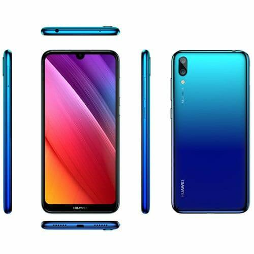 EU ECO Raktár - HUAWEI Y7 Pro 2019 4G okostelefon - 3GB 32GB - Kék