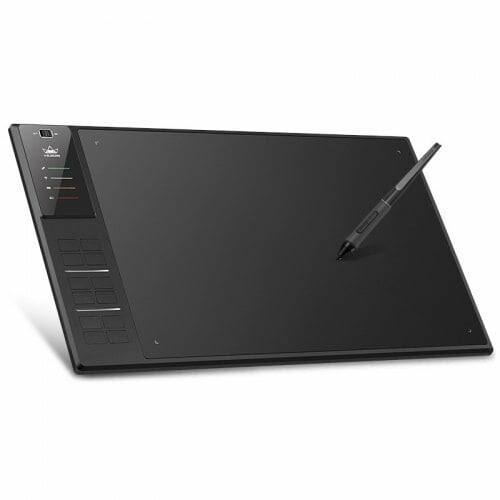 Huion WH1409 V2 Vezetékes / Vezetéknélküli Digitális Grafikus Táblagép - Fekete