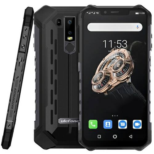 EU ECO Raktár - Ulefone Armor 6S 4G Okostelefon 6.2 inch Android 9.0 Helio P70 Octa Core 2.1GHz 6GB RAM 128GB ROM - Fekete