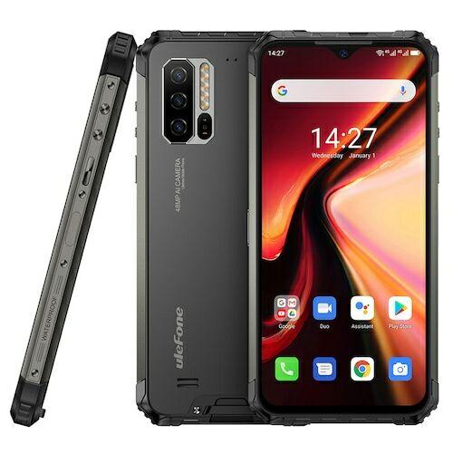EU ECO Raktár - Ulefone Armor 7 4G Smartphone 6.3 Inch Android 9.0 Helio P90 Octa Core 2.2GHz 8GB RAM 128GB ROM 3 előlapi Camera 5500mAh Akkumulátor - Fekete