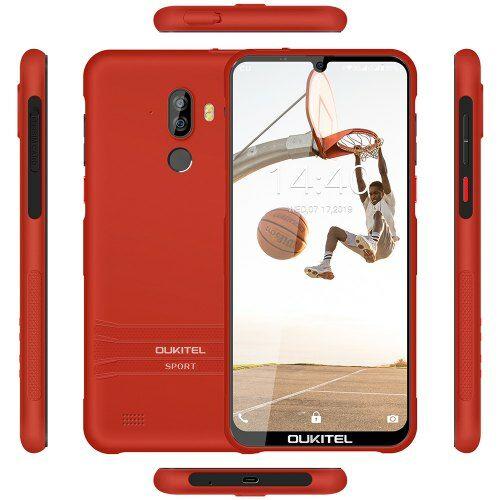EU ECO Raktár - OUKITEL Y1000 3G Okostelefon 6.088 inch Android 9.0 MT6580P Quad Core 2GB RAM 32GB ROM - Piros
