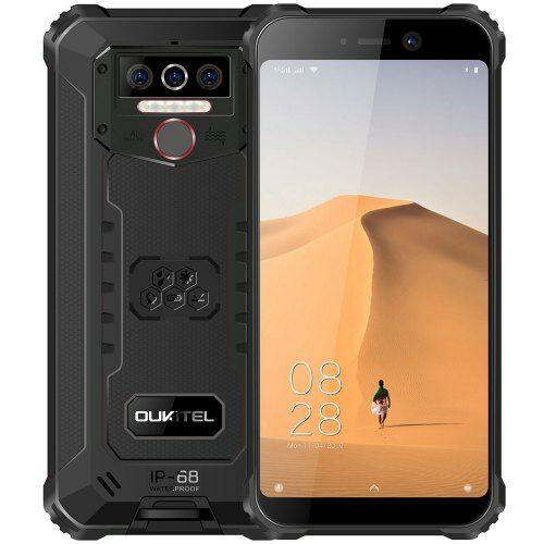 EU ECO Raktár - OUKITEL WP5 4G okostelefon 5.5 inch Android 9.0 3GB RAM 32GB ROM - Fekete