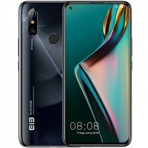 EU ECO Raktár - Elephone U3H 4G Okostelefon  6.53 inch Android 9.0 Helio P70 Octa Core 8GB RAM 256GB ROM 2 előlapi Camera 3500mAh Battery Globális verzió - Fekete