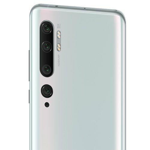 EU ECO Raktár - Xiaomi Mi Note 10 Pro 4G Okostelefon 8GB RAM 256GB ROM 108MP Penta Kamera - Fehér