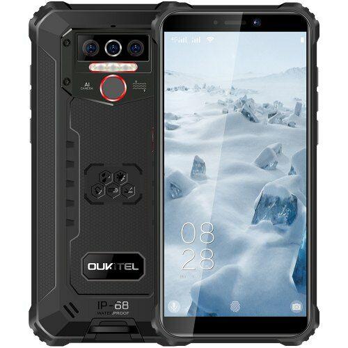 EU ECO Raktár - OUKITEL WP5 4G Okostelefon 8000mAh Battery 5.5 inch  Android 9.0 4GB RAM 32GB ROM IP68 - Fekete