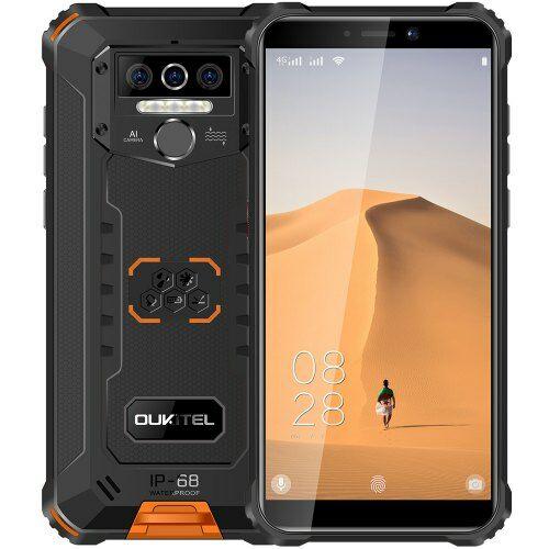 EU ECO Raktár - OUKITEL WP5 4G Okostelefon 8000mAh Battery 5.5 inch Android 9.0 4GB RAM 32GB ROM IP68 - Narancs