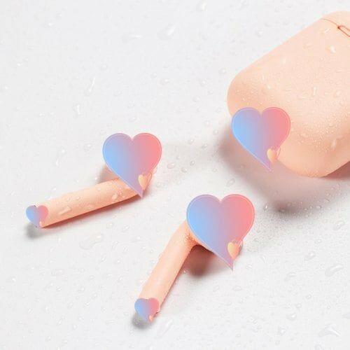 I12 Vezetéknélküli Bluetooth Fülhallgató Mikrofonnal Töltő Tokkal - Rózsaszín