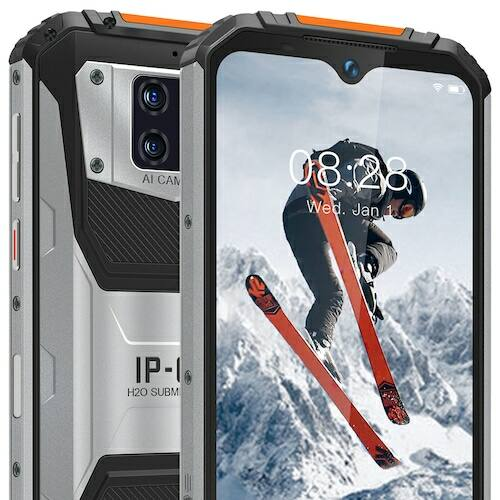 EU ECO Raktár - OUKITEL WP6 4G Okostelefon 4GB RAM 128GB ROM 10000mAh Battery 6.3 inch 16MP + 5MP + 0.3MP előlapi Camera 8MP Front Camera - Narancs - Standard kiadás