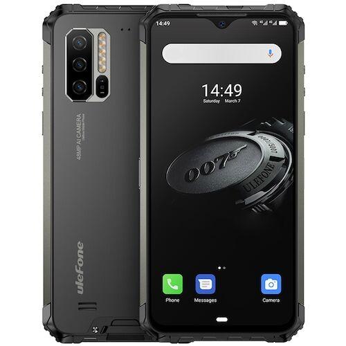 EU ECO Raktár - Ulefone Armor 7E 4G Okostelefon 6.3 Inch FHD + Android 9.0 Helio P90 Octa Core 4GB RAM 128GB ROM 3 előlapi Camera 5500mAh IP68 IP69K Vízálló - Fekete
