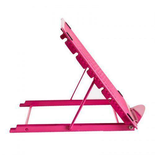 Irodai Asztali Laptop Tartó Állvány - Rózsaszín