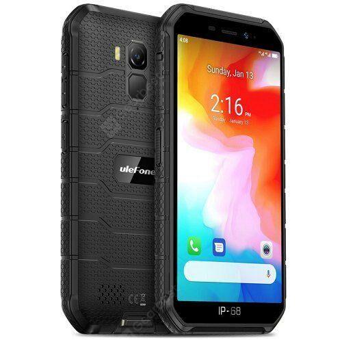 EU ECO Raktár - Ulefone Armor X7 4G Okostelefon 5 inch Android 10.0 Helio A20 MT6761VWE 2GB RAM 16GB ROM IP68 Vízálló - Fekete