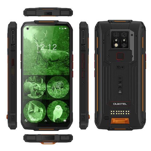 EU ECO Raktár - OUKITEL WP7 4G Okostelefon MediaTek Helio P90 6.53 inch 48M + 8M + 2M előlapi Camera 16MP Front Camera Android 9.0 8000mAh Battery IP68 Vízálló 6GB RAM 128GB ROM - Narancs