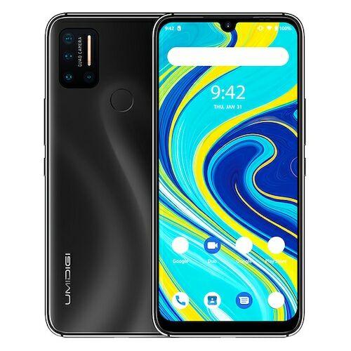 EU ECO Raktár - UMIDIGI A7 Pro 4G Smartphone Helio P23 Octa Core 6.3 inch 16MP + 16MP + 5MP + 5MP előlapi Kamera 4150mAh 4GB RAM 128GB ROM - Fekete