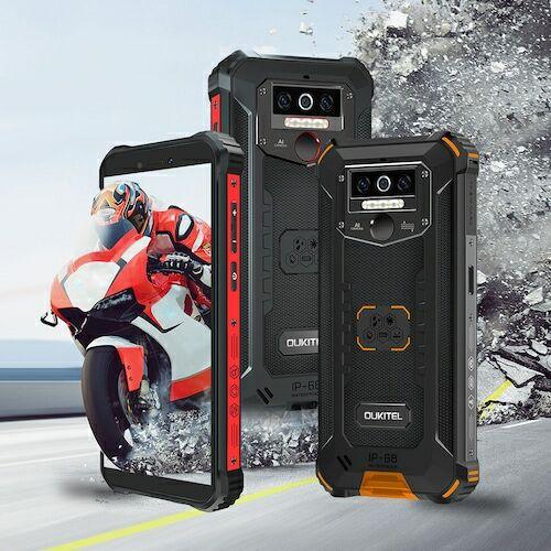 EU ECO Raktár - OUKITEL WP5 Pro 4G Okostelefon 5.5 inch 13MP + 2MP + 2MP előlapi Camera Android 10 4GB RAM 64GB ROM 8000mAh Battery IP68 And IP69K Globális verzió - Fekete