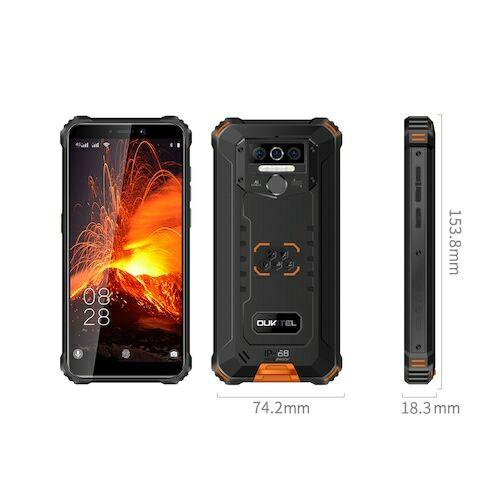 EU ECO Raktár - OUKITEL WP5 Pro 4G Okostelefon 5.5 inch 13MP + 2MP + 2MP előlapi Camera Android 10 4GB RAM 64GB ROM 8000mAh Battery IP68 And IP69K Globális verzió - Narancs