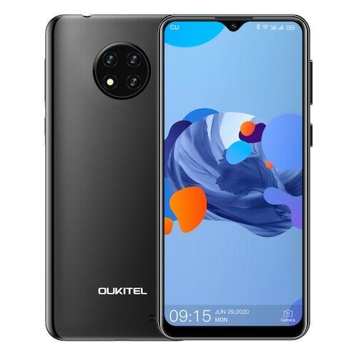 EU ECO Raktár - OUKITEL C19 4G Smartphone Android 10 2GB RAM 16GB ROM 6.49 inch HD + 13.0MP + 2.0MP + 2.0MP előlapi Camera 4000mAh - Fekete