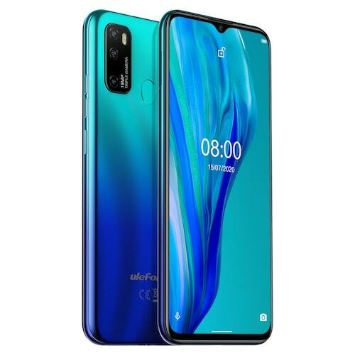 EU ECO Raktár - Ulefone Note 9P 4G okostelefon 6.52 inch Android 10 WD Octa-core 1.8GHz 4GB RAM 64GB ROM- Kék