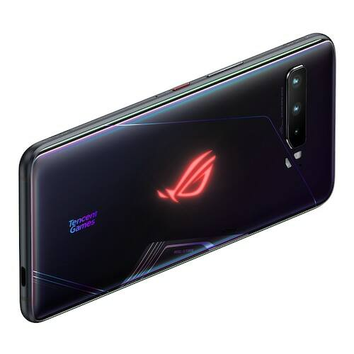 EU ECO Raktár - ASUS ROG Phone 3 Gaming 5G Okostelefon 6.59 inch Snapdragon 865 Octa Core 64 MPx Kamera Android 10 - 12GB RAM 128GB ROM - Fekete