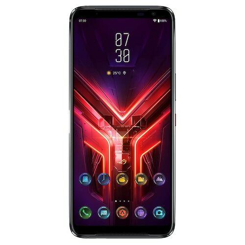 EU ECO Raktár - ASUS ROG Phone 3 Gaming 5G Okostelefon 6.59 inch Snapdragon 865+ Octa Core 64 MPx Kamera Android 10 - 12GB RAM 128GB ROM - Fekete