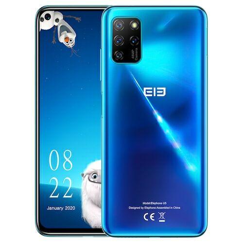 EU ECO Raktár - ELEPHONE U5 4G Okostelefon 6.4 inch NFC Helio P60, 2.0GHz Octa-core 4GB RAM 128GB ROM Globális verzió - Kék