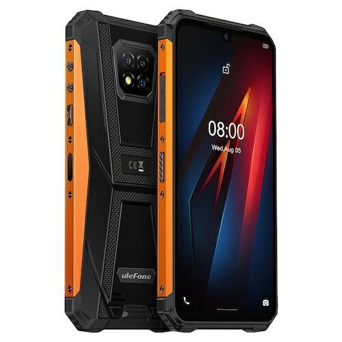 EU ECO Raktár - Ulefone Armor 8 4G 6.1 inch Okostelefon Android 10, Helio P60 Octa Core, 2.0GHz, 4GB RAM 64GB ROM - Narancs