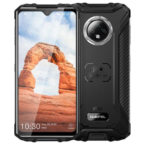 EU ECO Raktár - OUKITEL WP8 Pro NFC IP68 4G OKostelefon Android 10 4GB 64GB 5000mAh 16MP - Fekete