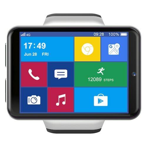 EU ECO Raktár - Ticwris Max S 4G Vezetéknélküli Android 7.1 MTK6739 Quad Core Karóramobil 3GB RAM / 32GB ROM IP67 Vízálló - Ezüst