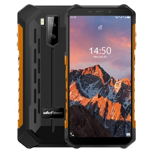 EU ECO Raktár - Ulefone Armor X5 Pro Rugged Vízálló Smartphone 4GB + 64GB Android 10.0 Cell Phone NFC 4G LTE Phone Globális verzió - Narancs