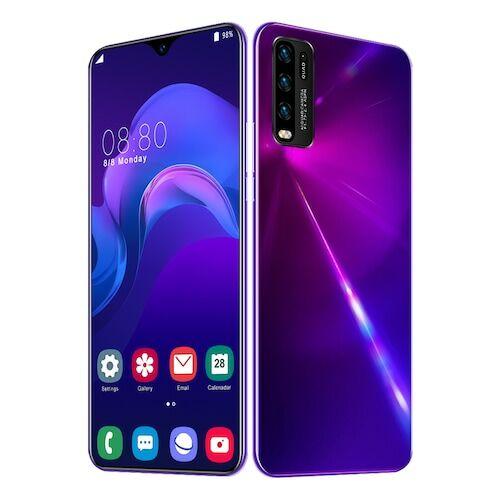 EU ECO Raktár - Y50 Pro Okostelefon MT6595 Quad Core 6.5 inch 2GB RAM + 32GB ROM Android 9.0 13MP + 32MP Cameras 4800mAh Battery Face ID Unlock Colorful Glass Back Cover  - Lila