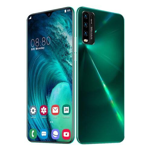EU ECO Raktár - Y50 Pro 4G okostelefon MT6595 Quad Core 6.5 inch 2GB RAM + 32GB ROM Android 9.0 13MP + 32MP Cameras 4800mAh Battery Face ID Unlock Colorful Glass Back Cover - Zöld