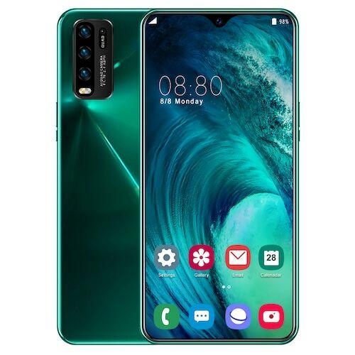 EU ECO Raktár - Y50 Pro Okostelefon MT6595 Quad Core 6.5 inch 2GB RAM + 32GB ROM Android 9.0 13MP + 32MP Cameras 4800mAh Battery Face ID Unlock Colorful Glass Back Cover - Zöld