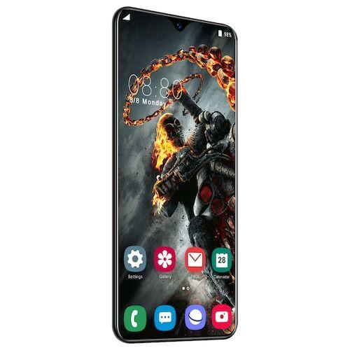 EU ECO Raktár - Y50 Pro 4G okostelefon MT6595 Quad Core 6.5 inch 2GB RAM + 32GB ROM Android 9.0 13MP + 32MP Cameras 4800mAh Battery Face ID Unlock Colorful Glass Back Cover - Fekete