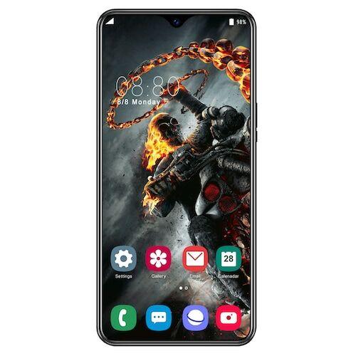 EU ECO Raktár - Y50 Pro Okostelefon MT6595 Quad Core 6.5 inch 2GB RAM + 32GB ROM Android 9.0 13MP + 32MP Cameras 4800mAh Battery Face ID Unlock Colorful Glass Back Cover - Fekete