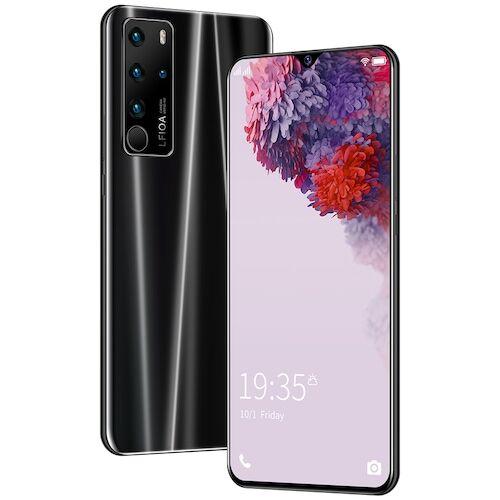 EU ECO Raktár - P47 4G Okostelefon MTK6792 6.7 Inch 2GB RAM 32GB ROM Android 6.0 13MP 24MP Cameras 4800mah Battery Face ID - Fekete
