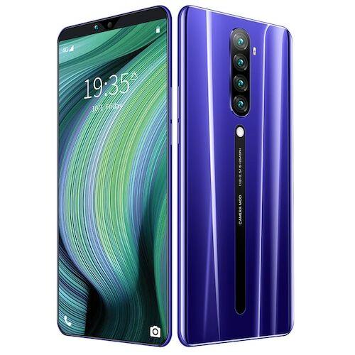 EU ECO Raktár - Rino5 4G Okostelefon MTK6580 6.3 Inch 2GB RAM 16GB ROM Android 9.0 8MP 16MP Cameras 4000mah Battery Face ID - Lila