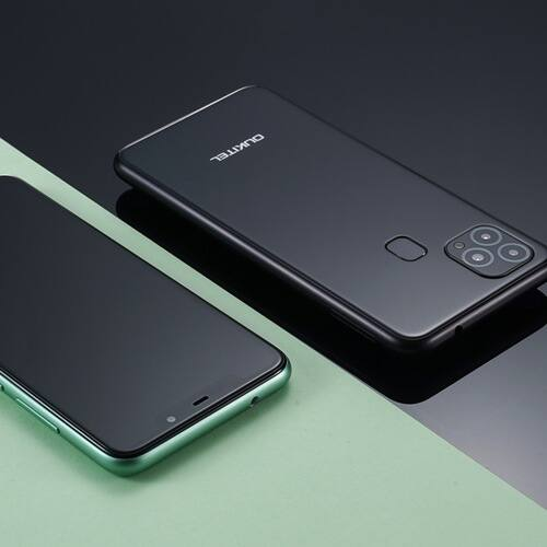 EU ECO Raktár - Oukitel C22 4G Okostelefon 4GB RAM 128 ROM 13MP Triple Camera 2.5D üveg Back 1.8GHz 4000mAh - Fekete