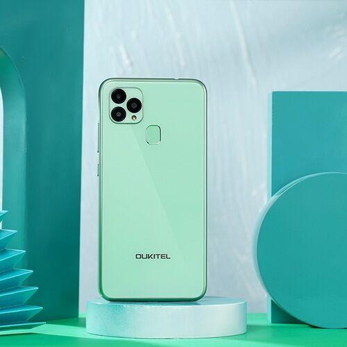 EU ECO Raktár - Oukitel C22 4G Okostelefon 4GB RAM 128 ROM 13MP Triple Camera 2.5D üveg Back 1.8GHz 4000mAh - Kék