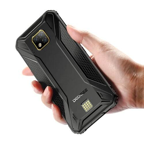 EU ECO Raktár - Doogee S95 Pro Bands IP68 Vízálló 6.3 inch FHD+ NFC Android 9.0 5150mAh 48MP AI Triple előlapi Cameras 8GB RAM 128GB ROM Helio P90 Octa Core 4G Okostelefon - Fekete