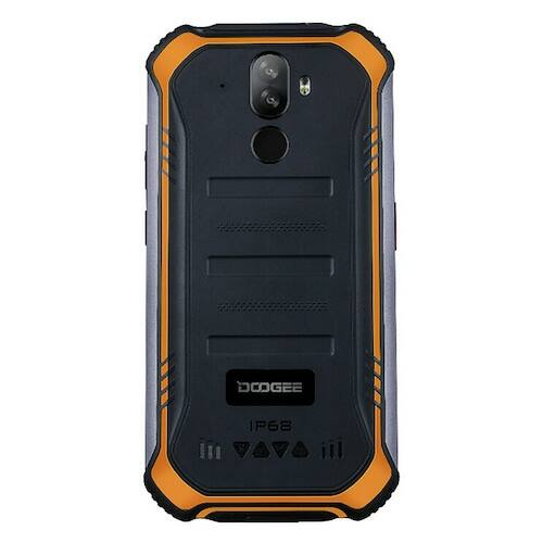 EU ECO Raktár - Doogee S40 Pro 5.45 inch IP68 / IP69K Vízálló NFC Android 10.0 4650mAh 13MP Dual előlapi Camera 4GB 64GB Helio A25 4G Okostelefon - Narancs