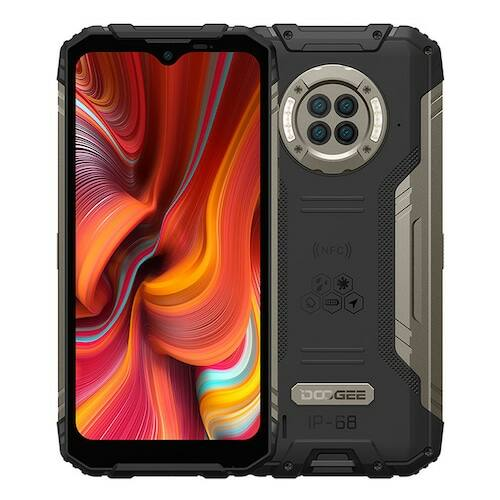 EU ECO Raktár - DOOGEE S96 Pro 4G Okostelefon IP68 IP69K 8GB 128GB Helio G90 NFC Android 10 6350mAh 6.22 inch 48MP Round Quad Camera 20MP Infrared Night Vision - Fekete