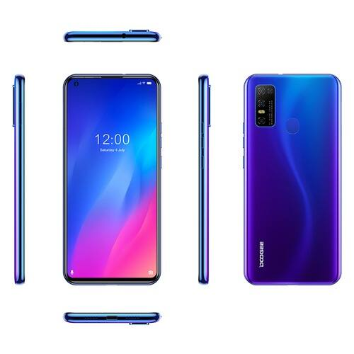 EU ECO Raktár - Doogee N30 6.55 inch Android 10.0 4180mAh 16MP AI 4G Okostelefon Quad előlapi Camera 4GB RAM 128GB ROM Helio A25 4G Okostelefon - Kék