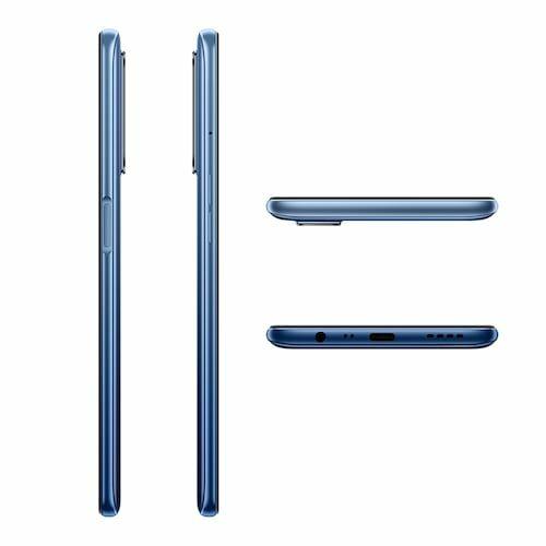 EU ECO Raktár - Realme 7 6.5 Inch FHD Display 90Hz 4G Okostelefon Helio G95 Gaming Processor NFC 8GB RAM 128GB ROM 48MP AI Quad Camera - Kék