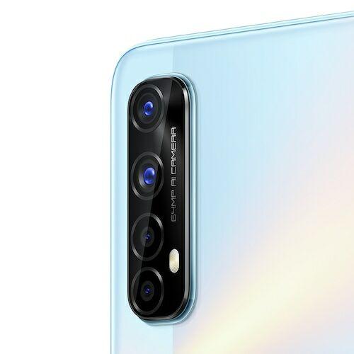 EU ECO Raktár - Realme 7 6.5 Inch FHD Display 90Hz 4G Okostelefon Helio G95 Gaming Processor NFC 8GB RAM 128GB ROM 48MP AI Quad Camera - Fehér