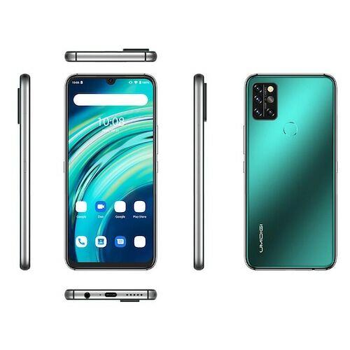 EU ECO Raktár - UMIDIGI A9 Pro 4G Okostelefon 6.3 Inch FHD+ Infrared Hőmérővel Helio P60 Android 10 4150mAh 48MP AI Matrix Quad Camera - Zöld 6GB RAM + 128GB ROM