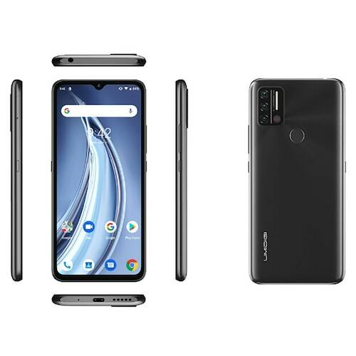 EU ECO Raktár - UMIDIGI A9 4G Okostelefon 6.53 inch HD+ Infrared Hőmérővel Android 11 5150mAh 3GB RAM 64GB ROM Helio G25 13MP - Szürke